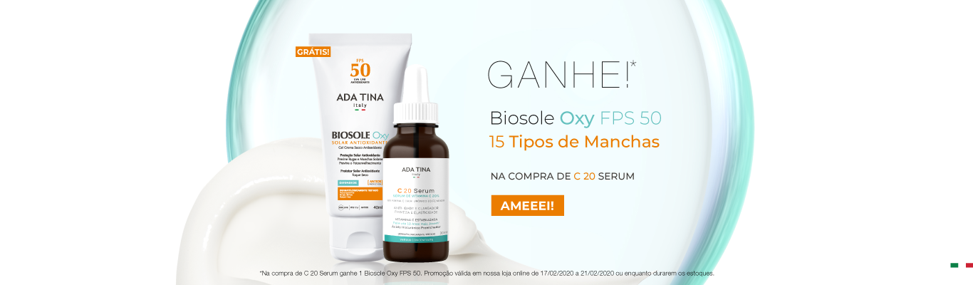 MÉDIO - GANHE BIOSOLE OXY FPS 50 - C 20 SERUM